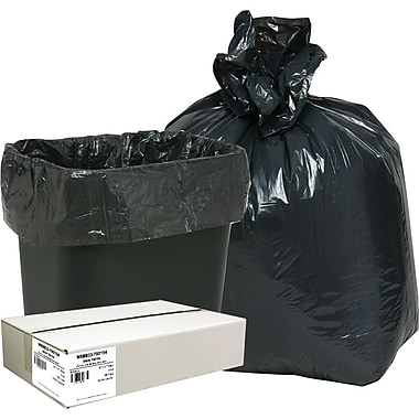 Webster Classic 2-Ply Trash Bags, Black, 16 Gallon, 500 Bags/Box