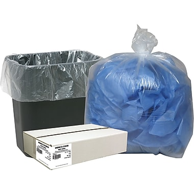 Webster Classic® Clear Trash Bags, 16 Gallon, 500 Bags/Box