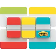 "Post-it® Durable Filing Tabs, Assorted Colors, 1"" & 2"", 114/Pk"