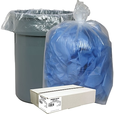 Webster Classic® Clear Trash Bags, 55-60 Gallons