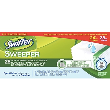 Sweeper Wet Mopping Cloths, 28/Box
