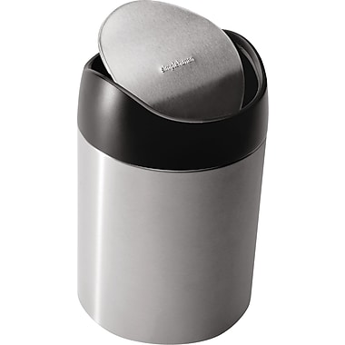 simplehuman Countertop Trash Can, .4 gal.
