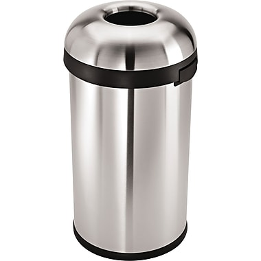 simplehuman Bullet Open Trash Can, 16 gal.