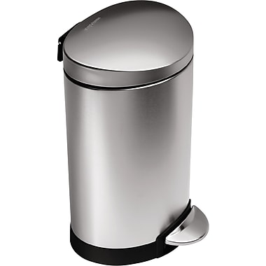 simplehuman Mini Semi-Round Step Trash Can, 1.6 gal.