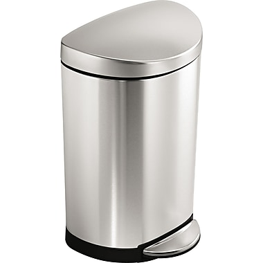 simplehuman Semi-Round Step Trash Can, 2.6 gal.
