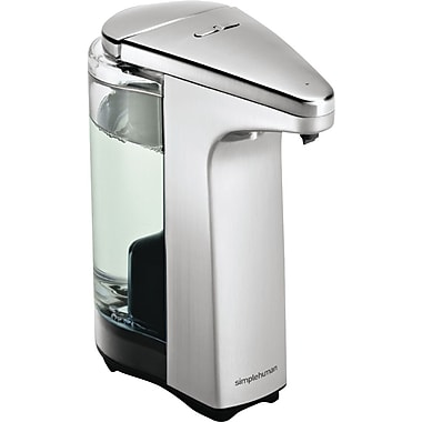simplehuman Compact Sensor Pump Soap Dispenser, Brushed Nickel