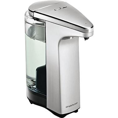 SimplehumanMD – Distributeur de savon avec pompe à capteur compact, nickel brossé
