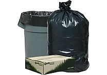 Webster® Earthsense® Commercial Recycled Trash Bags, Black, 33 gal.
