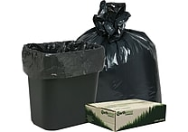 Webster® Earthsense® Commercial Recycled Trash Bags, Black, 7-10 gal.