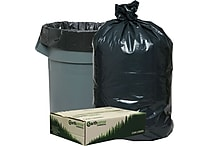 Webster® Earthsense® Commercial Recycled Trash Bags, Black, 55-60 gal.