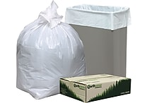 Webster® Earthsense® Commercial Recycled Trash Bags, White, 13 gal.