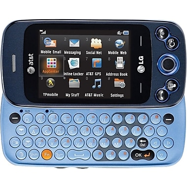 LG Neon II GW370 GSM Unlocked Touch/QWERTY Cell Phone, Blue