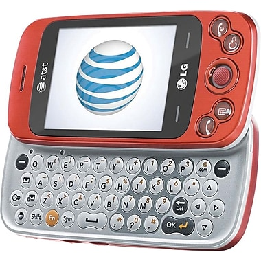 LG Neon II GW370 GSM Unlocked Touch/QWERTY Cell Phone, Red/Silver