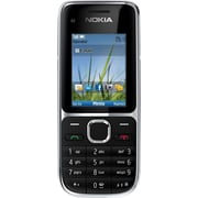 Nokia C2-01 GSM Unlocked Cell Phone, Black