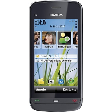 Nokia C5-03 GSM Unlocked Symbian OS Cell Phone, Graphite