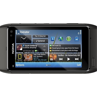 Nokia N8 GSM Unlocked Symbian OS Cell Phone, Dark Gray