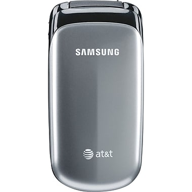 Samsung A107 GSM Unlocked Flip Cell Phone, Silver/Black
