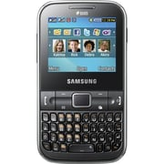 Samsung Ch@t 322 C3222 GSM Unlocked Dual SIM Cell Phone, Noble Black