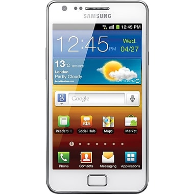 Samsung Galaxy S II I9100 GSM Unlocked Android Cell Phone, White/Silver