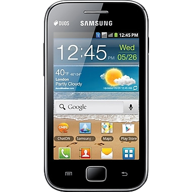 Samsung Galaxy Ace DUOS S6802 GSM Unlocked Dual SIM Android Cell Phone, Black