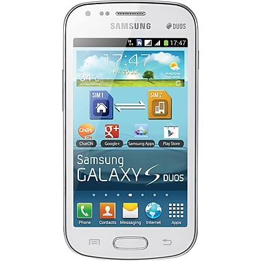 Samsung Galaxy S DUOS S7562 GSM Unlocked Dual SIM Android Cell Phone, White