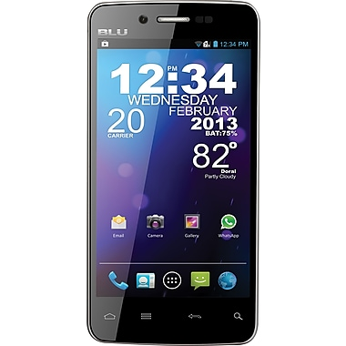 BLU Quattro 4.5 HD D450 GSM Unlocked Android Cell Phone, Black