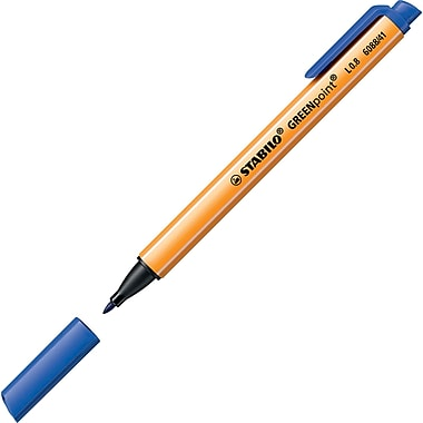 Stabilo GREENpoint Nylon Felt-Tip Pen, Blue Ink