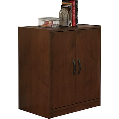 Staples Easy2Go 2-Door Storage Cabinet, Resort Cherry