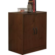 Staples easy2go 2 door storage cabinet resort cherry staples - Storage staples corner ...