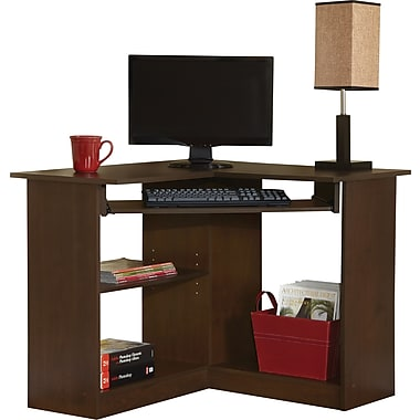 Easy2Go Corner Computer Desk, Resort Cherry