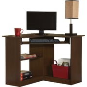 Staples® Easy2Go Corner Computer Desk, Resort Cherry