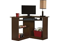 Staples Easy2Go Corner Computer Desk, Resort Cherry