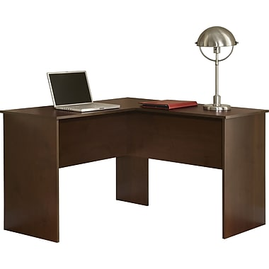 Staples Easy2Go L-Desk, Resort Cherry