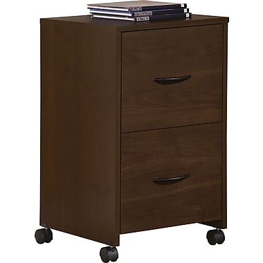 Staples Easy2Go 2-Drawer Mobile File Cabinet, Resort Cherry
