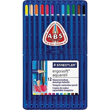 Staedtler Ergosoft Watercolour Pencils, 12 Assorted Colours