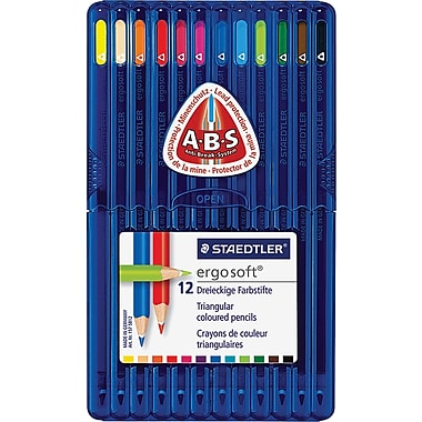 Staedtler Ergosoft Coloured Pencils, 12 Assorted Colours