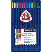 Staedtler - Crayons de couleur Ergosoft, couleurs variées