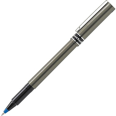 Uni-Ball Deluxe Rollerball Pen, Micro, Blue Ink