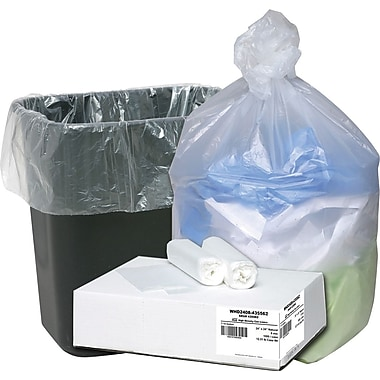 Webster Ultra Plus Trash Bags, Clear, 7-10 Gallon, 1,000 Bags/Box