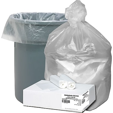 Webster Ultra Plus® Trash Bags, Clear, 40-45 Gallon, 80 Bags/Box
