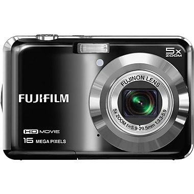 Fuji FinePix AX660 16MP Point and Shoot Digital Camera, Black