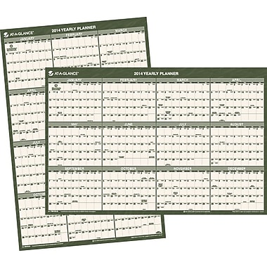 2014 AT-A-GLANCE® Recycled Vertical/Horizontal Wall Calendar, 24 x 36