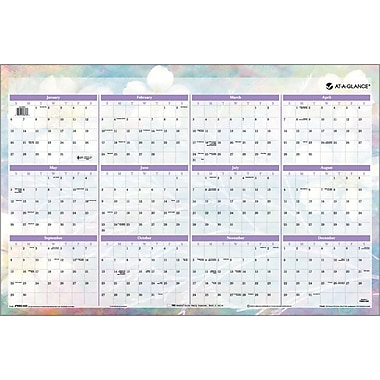 2014 AT-A-GLANCE® Dreams Erasable Wall Calendar, 24in. x 36in.