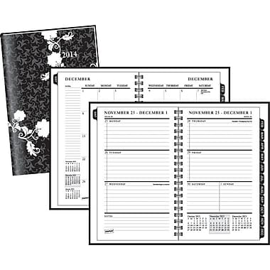 2014 Staples® Weekly/Monthly Hard Cover Planner, 4 7/8in. x 8in.