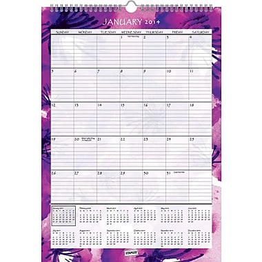 2014 Staples®  Monthly Wall Calendar, 12in. x 17in.