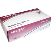 Ambitex Food Service Gloves, Large, 500/Box