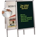 Master Vision 22 1/2in.(W) x 32 1/2in.(H) Magnetic Wet Erase Board, Cherry Frame