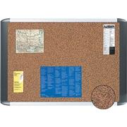 "MasterVision Earth Cork Bulletin Board, Aluminum Frame, 18""H x 24""W"