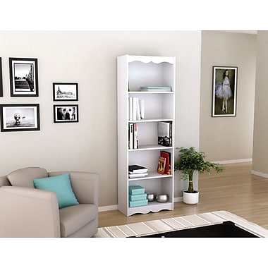Sonax Hawthorn Collection 72' Tall Bookcase, Frost White