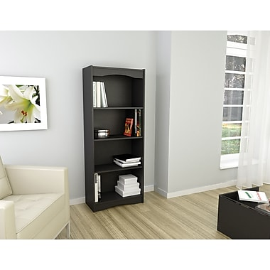 Sonax® Hawthorn 60in. Wood Bookcase, Midnight Black